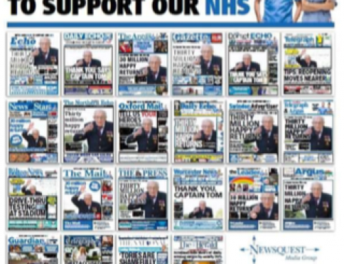 Newsquest and JPIMedia 'go blue' to support NHS